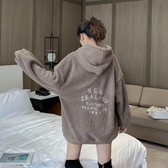 中長款羊羔毛衛衣女士潮ins洋氣加厚加絨寬鬆韓版秋冬季 - 風尚3C