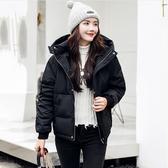 正韓國空運連帽羽絨外套短大衣80%白鴨絨  中大尺碼【64-25-86138-18】ibella 艾貝拉