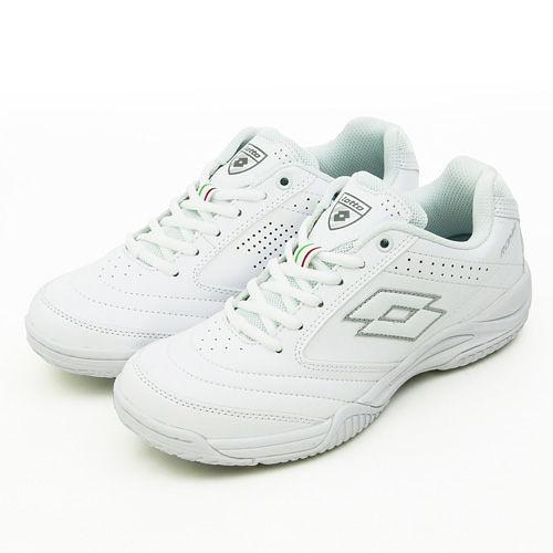 LOTTO 多功能運動鞋 白色學生鞋 ROMA 白 2069-2 女