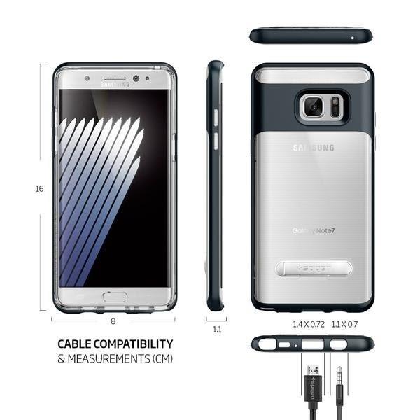 【贈9H玻璃保貼】Spigen SGP Note 7 Crystal Hybrid 邊框防撞 透明背蓋 可站立 手機殼 Bumper 保護殼 Note7