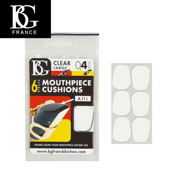 【小叮噹的店】原廠 BG A11L 牙墊 透明 0.4mm (6片裝  薩克斯風/ 豎笛吹嘴 護片 / 墊片) D35
