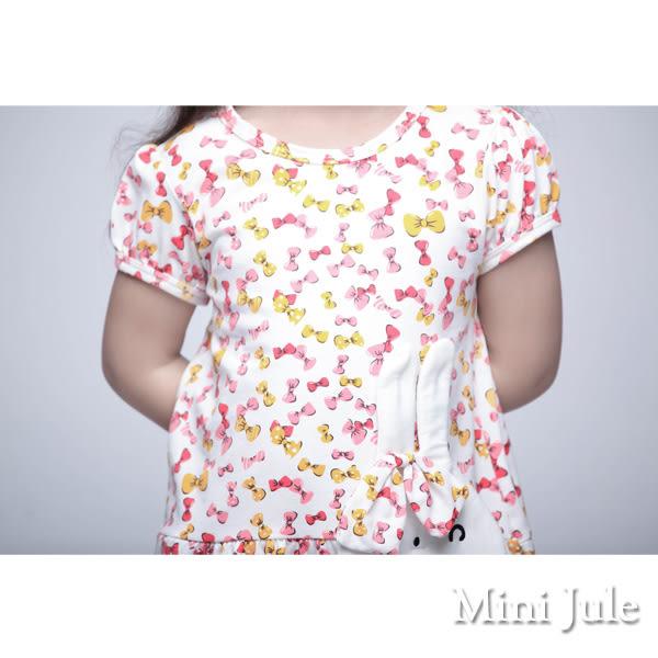 童裝 洋裝 假兩件花紋直條吊帶/立體兔子彩色蝴蝶結洋裝(共3款) Azio Kids 美國派 童裝