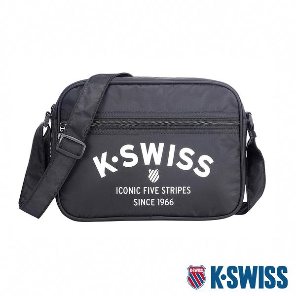K-SWISS KS Logo Shoulder Bag 2休閒斜背包-黑