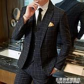 男士西裝套裝休閒小西服外套青年韓版修身潮新郎結婚禮服職業上衣【名購新品】