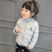 新款童裝長袖羽絨服女童拉鍊外套