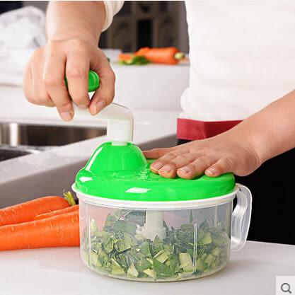 手動餃子餡機絞肉機絞菜器碎菜機切菜器蒜泥器攪蒜器切蒜器搗蒜器 標配