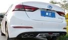 【車王小舖】現代 Hyundai Super Elantra 雙出尾管 大包 小包 後包圍 後下巴 後保桿