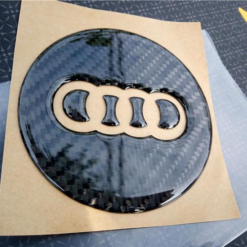 AUDI 碳纖方向盤 LOGO 貼紙 A3 A4 A5 A6 Q2 Q3 Q5 Q7 沂軒精品 A0361