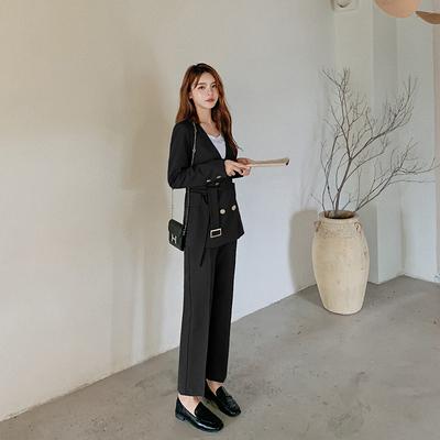 西裝套裝兩件式女裝 秋季韓版辦公室OL套裝小西裝外套女氣質兩件套965#T238A快時尚