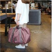 旅行摺疊收納袋大容量帆布包女手提袋出差登機防水單肩可掛行李箱    3C優購