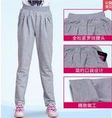 秋季中大女童薄款棉質寬鬆運動休閒長褲PLL2558【男人與流行】