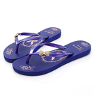 PLAYBOY 水鑽蝴蝶結夾腳拖鞋-藍(YT511)