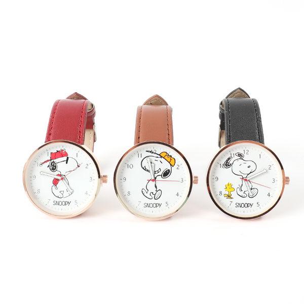 【Snoopy皮革手錶】Norns 正版 史努比Peanuts 手足造型指針腕錶