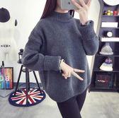毛衣 2019秋冬季高領加厚毛衣女套頭韓版針織衫寬鬆短款打底學生線衣