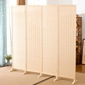 (四扇)中式竹編屏風房間折疊隔斷墻裝飾客廳臥室移動簡約現代屏障簾家用 酷男精品館