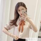雪紡襯衫女短袖2020夏裝新款韓版白色寬...