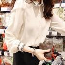 2019春裝新款韓版雪紡白色襯衫女設計感小眾洋氣上衣寬鬆襯衣很仙 韓小姐的衣櫥