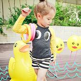 兒童泳裝 彩色 條紋 造型 兩件套 長袖 兒童泳裝【TF5173】 BOBI  08/31