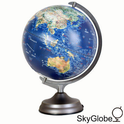 【skyglobe】12吋衛星觸控三段式立體地球儀