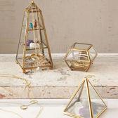 玻璃首飾盒歐式飾品收納首飾架復古珠寶盒手錶珠寶展示架道具 英雄聯盟igo