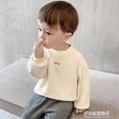 男童長袖上衣-嬰兒加絨衛衣冬裝秋冬幼兒男童上衣寶寶套頭外套1歲3小童潮X1203 多麗絲