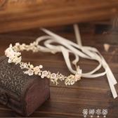 (免運)髮飾Vaire發飾女韓國新娘頭飾仙氣森系超仙花環仙女發箍適合短發的發