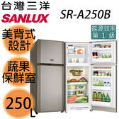 【SANYO三洋】250L風扇雙門冰箱SR-A250B