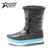 PolarStar 女 防潑水 保暖雪鞋│雪靴『漆黑』 P16652