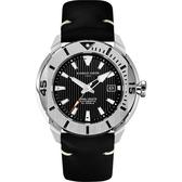 GIORGIO FEDON 1919 海洋系列200米機械錶-黑皮帶/47mm GFCH004