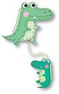 【米力設計】12023 布書籤-鱷魚親子...