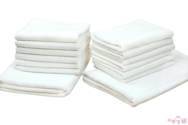 素色毛巾 28兩商用 / 純白色 / 美容 美髮 88g 100%純棉 / 台灣專業製造【快樂主婦】