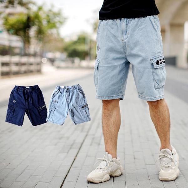 短褲 韓國製Black Lable工裝短褲牛仔短褲【NB1002J】