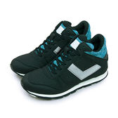 LIKA夢 PONY 繽紛韓風中筒復古慢跑鞋 SOLA-HI 祕密花園系列 黑灰藍 64W1SO73BK 女