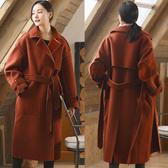 外套-復古絲絨羊毛加厚中長版毛呢大衣/設計家 SZ242