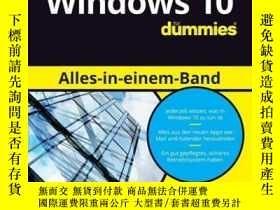 二手書博民逛書店Windows罕見10 Alles-in-einem-Band für DummiesY410016 Wood