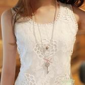 春夏女裝大尺碼白色小吊帶背心短版蕾絲工字外穿素面女士打底衫 【降價兩天】