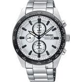 SEIKO精工 Criteria 太陽能計時碼錶-銀/43mm V176-0AV0W(SSC653P1)