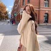 荷葉邊洋裝 軟妹毛衣女寬鬆慵懶風秋冬季外穿可愛仿水貂絨針織衫上衣日系套頭 夏季上新