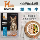 【毛麻吉寵物舖】HyperrRAW超躍 小豹牙五色生鮮餐 鯖魚牛口味 1公斤(200克*5替代)
