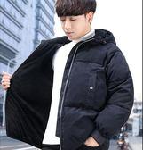 冬季2019男士加絨加厚棉衣 韓版短款棉服 潮流外套 棉襖新款面包服 休閒男士潮流時尚外套