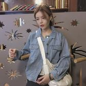 早秋牛仔外套女2018新款韓版原宿風bf寬鬆百搭長袖短款夾克上衣潮