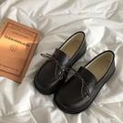皮鞋 林先參 小皮鞋女2021春秋新款英倫風厚底加絨單鞋學生原宿風女鞋 【99免運】