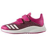 Adidas Fortarun CF K 男 女孩 中童鞋 慢跑鞋 桃紅 白 魔鬼氈 休閒運動鞋 BA9496