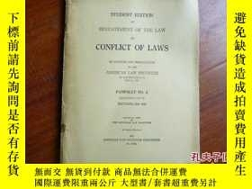二手書博民逛書店CONFLICT罕見OF LAWS PAMPHLET MO.2Y