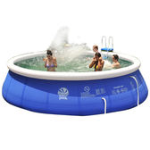 游泳池 吉龍充氣家用夾網遊泳池成人家庭嬰兒童小孩加厚寶寶超大號戲水池 igo 城市玩家