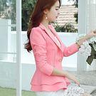 韓版修身長袖小西裝外套女士百搭休閒西服 韓語空間