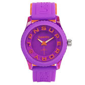Superdry 極度乾燥Tokyo 系列炫彩視覺 腕錶橘x 紫x 小