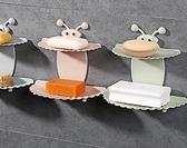 肥皂盒 浴室免打孔雙層吸盤肥皂盒創意壁掛肥皂架瀝水香皂盒衛生間置物架【快速出貨八折搶購】
