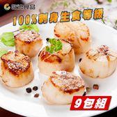 揪團最便宜【吃浪食品】生食級鮮甜日本干貝 9包組(160g±10%/1包6顆)