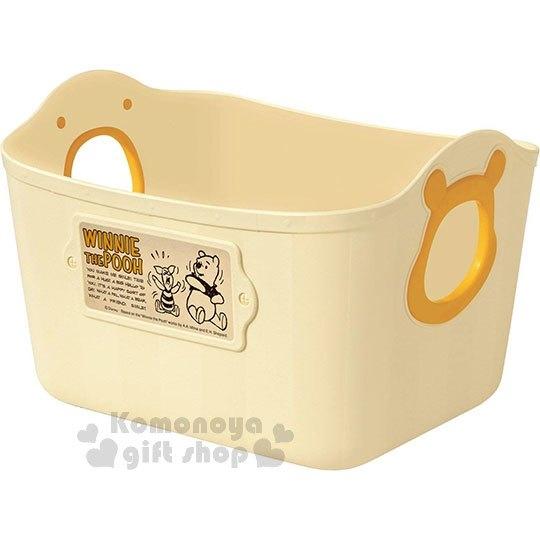 〔小禮堂〕迪士尼 小熊維尼 日製軟式收納盒《L.黃》2.5L.置物籃 4904121-34241